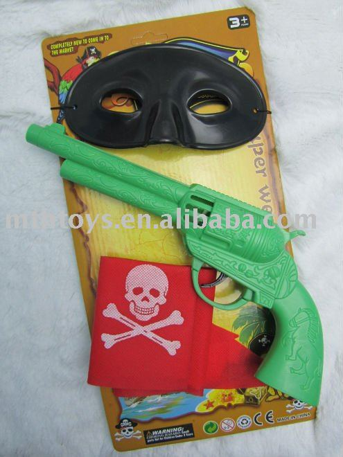 Pirates Play Set Fire-stone gun and pirate eye mask
