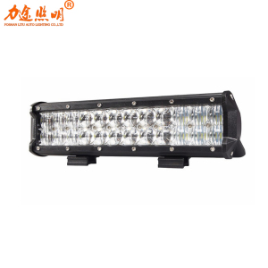 12 inch 54w 5D Dual Rows 4X4 offroad car LED Light Bar waterproof Combo Beam 12v 24v auto truck led light bar