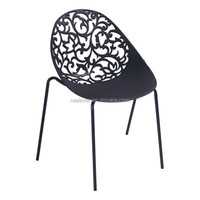 Exquisite hollow out back leisure style lacy plastic chair