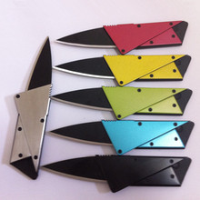 Steel handle metal blade mini credit card knife for cutting