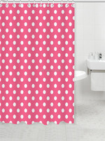 Pink dots shower curtain / online curtains