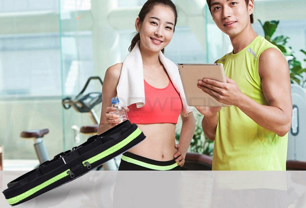 "Waterproof Jogging Run Waist Bag Lumbar Waist Pack Elastic for 5.5"" Phone Sports"