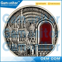 Custom Made High Relief Famous Scenery Russia Souvenir Gifs Church Building Coins