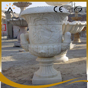 Decorative Marble Garden Urn For Sale