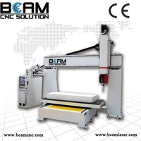 Top configuration wood ,foam 5 axis cnc router/cnc machine for sale