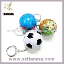 Antique small globe map keychain cell phone sphere chains