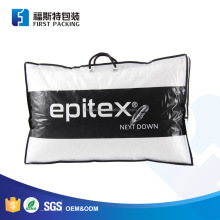 High quality PE transparent tote bag for foam pillows with insert cardboard