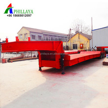 40 - 120 ton loading capacity steel material 2 axle 3 axle 4 axle lowbed / flatbed 200 ton semi trailer truck price for sale