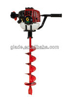 one people handheld soil auger for earth drilling