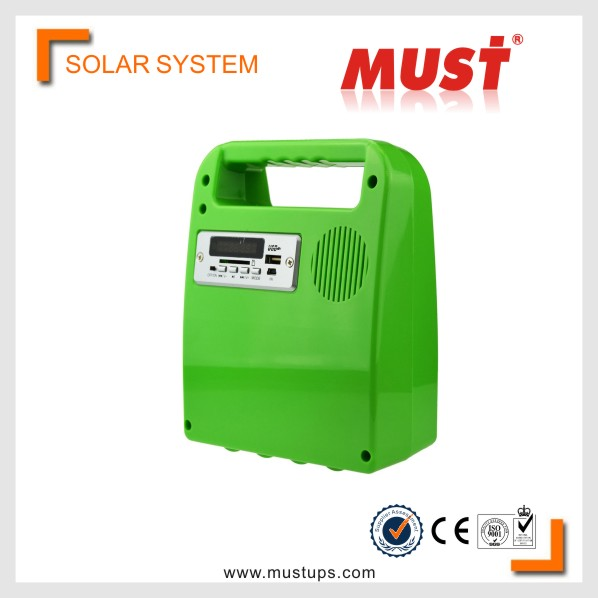 MUST Hot sales 10W mini projects portable solar power system for small homes high configuration