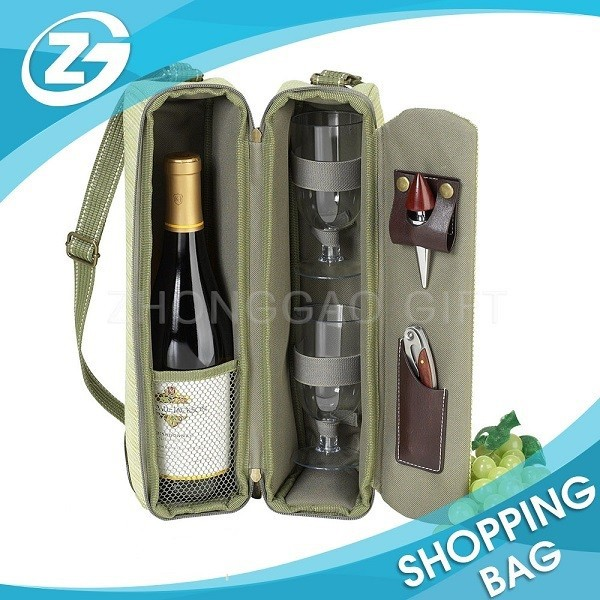 Single Bottle Fancy Nylon Wine Bottle Gift Bags organza wine bag