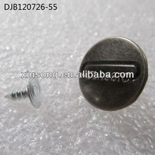 1.7cm Metal Alphabet Customized buttons for jeans DJB120726-55
