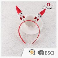 Highest Quality Customized Oem Handmade Head Hair Antique Snowman Headbands For Baby Girl in Christmas