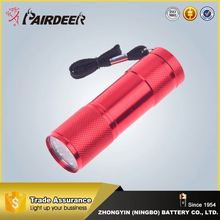Promotion factory supply rechargeable led hunting flashlight