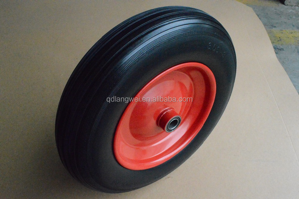 "China supplier 13"" 6"" 10"" Solid rubber wheel for wheelbarrow with competitive price"