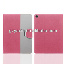 2014 hot selling!!! Light blue for ipad5 case, new leather smart cover for ipad5,factory price