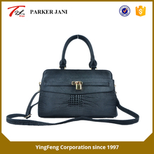 Fashion crocodile pattern pu leather single shoulder brand handbag for women