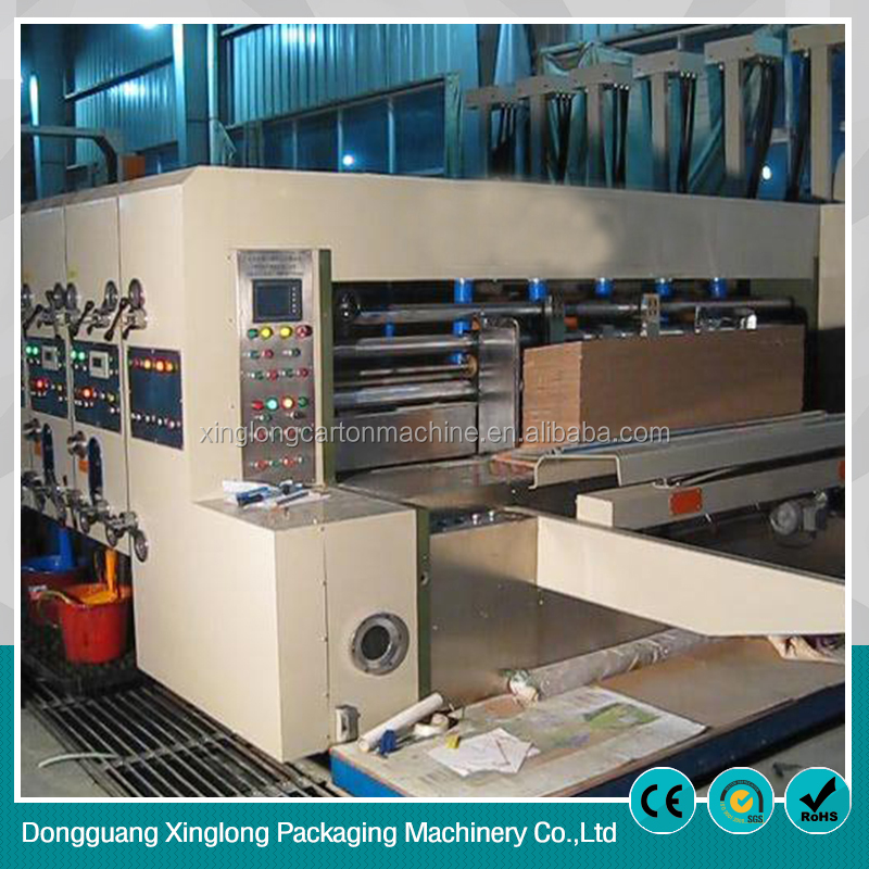 Low cost carton box maker machine used printer slotter machine