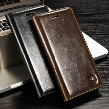 CaseMe Luxury Leather Cover Wallet Card Slot Stand Display Case for iPhone 5 5S