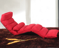 Colorful Easy Fold Soft Portable Folding Bed Adjustable Folding Sofa Beds with Flocking Cloth