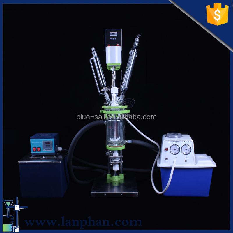 Lab Jacketed Stainless Steel Reactor Pressure Vessel for Molecular Distillation