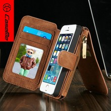 For iPhone 5s luxury Leather Phone Case, Flip Cover with Credit Card Holder Back Cover for iPhone5s
