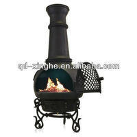 antique crafted cast iron chiminea