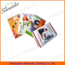 Customized printed pocket facial tissue paper/3ply printing mini pocket tissue/color wallet tissue china manafacturer