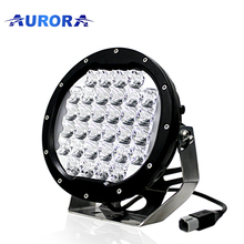 Aurora IP68 waterproof 96w car led light bar round driving light 4x4 spot lights