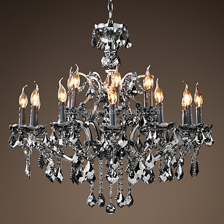 Luxury Modern Vintage 18 Arms Chandeliers Lighting LED Crystal Chandelier Pendant Hanging Light for Home Hotel Decor CZ2519B/18