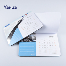Rubber Sublimation Printing Calendar Mouse Pad Printed / Mouse Mat