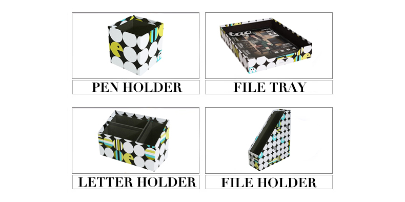 NAHAM Dot Office Desk Organizer Boxes Stationery Storage Set