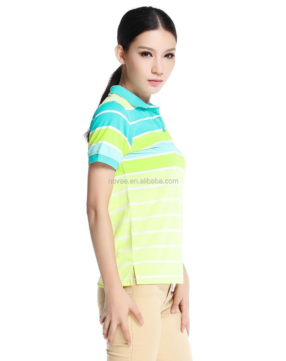Non brand polo shirts womens office uniform design polo for Polo shirt color combination