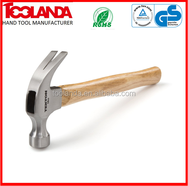 16-oz. Wood Curved Claw Hammer the First-Biggest Hammer supplier in China
