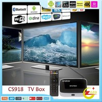 CS918 Bluetooth Internet Quad Core RK3188 Smart TV Box Android 4.2 with Remote Control US Standard Black