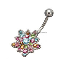 2015 New style nickel free gem belly navel rings
