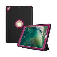 Rugged Tablet Pc Built-in Stand Premium Frosted Synthetic Magnetic Leather Smart Back Cover Stand Case For iPad Pro 10.5 Inch