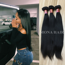 Natural Black Color Unprocessed Peruvian Straight 8A Virgin Hair