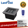 Square Outdoor Inground Light 9W Square LED RGB Underground Light With RF Control