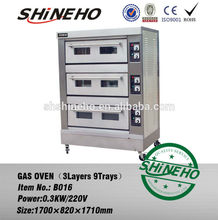 free standing gas deck oven/french bread oven gas/gas chicken roasting oven