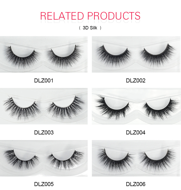 HZJY DLZ015 3d layered full strip silk lashes with private label