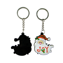 customized 3D santa clause/animal shape soft pvc keychain