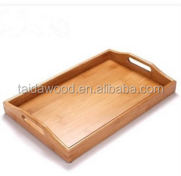 cheap custom bamboo wooden seriving tray