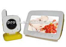 7 inch TFT Color LCD 2.4 GHz Wireless baby monitor with two ways intercom PY-B9070D