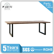 Partu Metal Frame. Wood Table Top Tube Table Rubberwood Dining Table