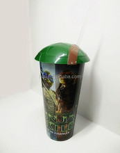 high quality plastic drink cup with straw