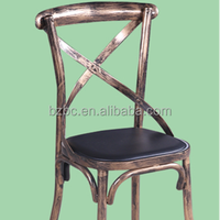 factory direct selling High Class Antique Thermal Transfer/ Powder Spray Metal Chair / Coffee chair