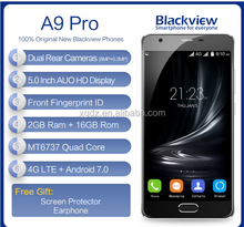 "Blackview A9 Pro Dual Rear Cameras 4G Mobile Phone 5.0"" HD MTK6737 Quad Core Android 7.0 2GB+16GB 8MP Fingerprint ID Smartphone"
