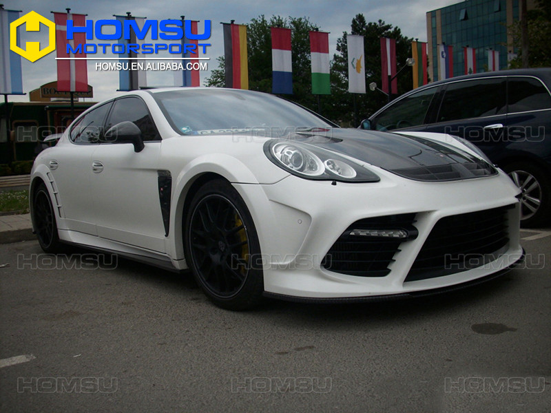 Auto tuning spare parts fiber glass carbon fiber wide style MS design bumper body kit for panamera 970 2011 2012