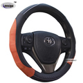 2017 Deluxe steering wheel cover leather red